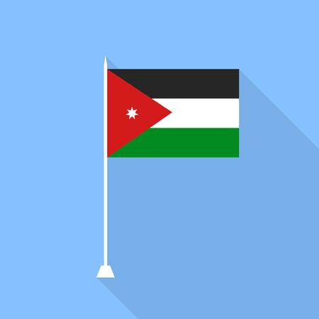 jordan: Jordan Flag. Vector illustration.