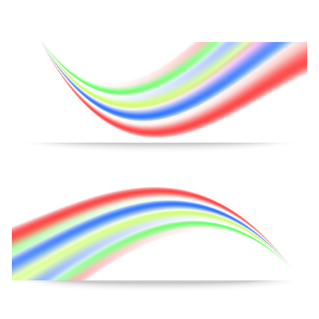 abstract waves: Banners with colorful abstract waves.