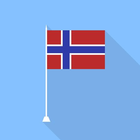 norway flag: Flag of Norway. Illustration