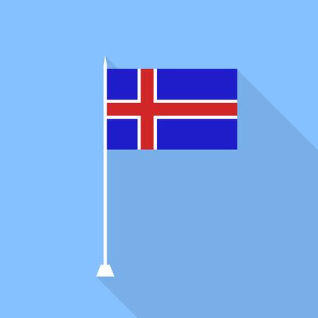 iceland flag: Iceland flag. Vector illustration.