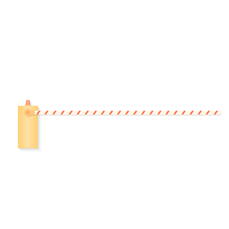 barrier: Closed barrier. Vector illustration.