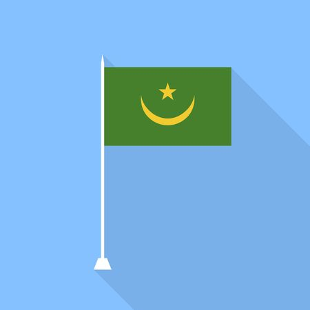 mauritania: Mauritania Flag. Vector illustration.