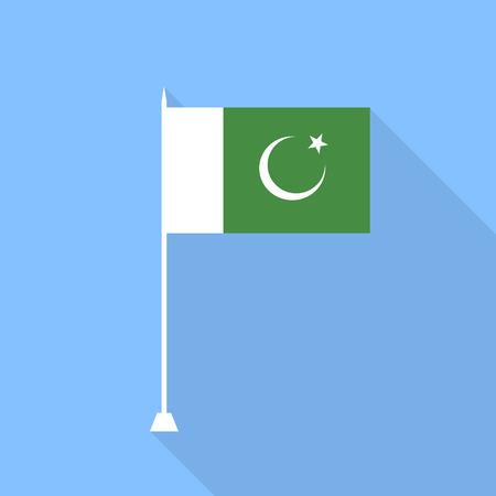 flag of pakistan: Flag of Pakistan. Vector illustration. Illustration