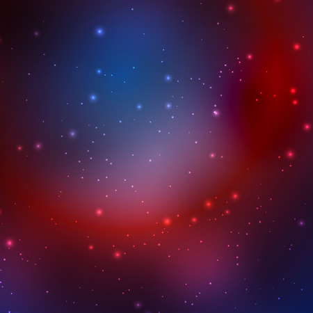 Abstract cosmic sky with stars. Vector illustration .