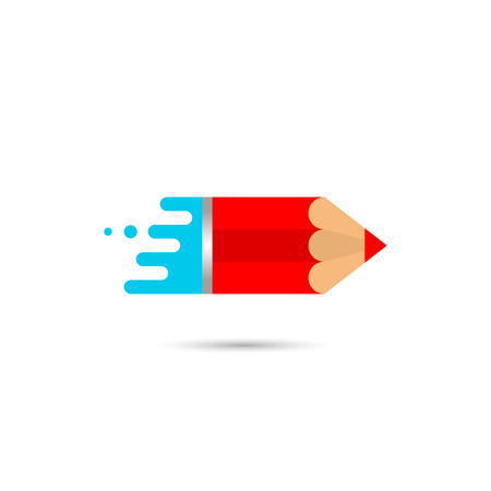 Pencil on white background. Vector illustration
