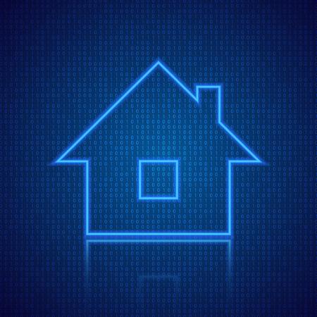 デジタルスマートホームの概念。ベクターイラスト。  イラスト・ベクター素材
