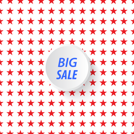 Big Sale Banner with stars on the backdrop.
