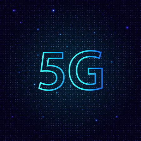 5G standard of modern signal transmission technology. Vector illustration . 일러스트