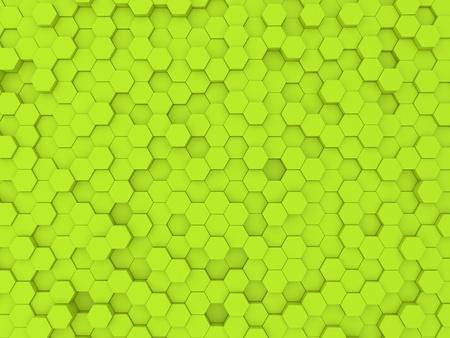 Green abstract background wall of hexagons. 3d rendering illustration. Reklamní fotografie