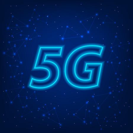 5G standard of modern Internet transmission technology. Vector illustration 일러스트