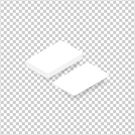 Business cards are white on a transparent background. Vector illustration .