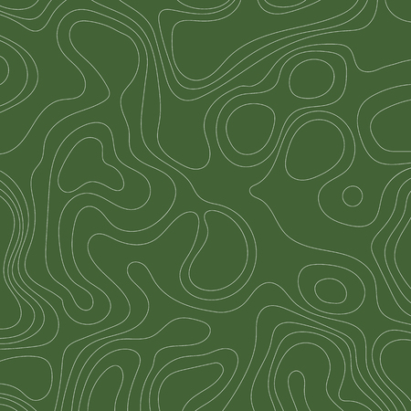 Abstract topographic map lines background on green background. Vector illustration . Иллюстрация