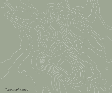 Topography relief map on a green background. Vector illustration .