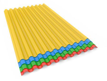 Metal slate for construction on a white background. 3d render illustration.