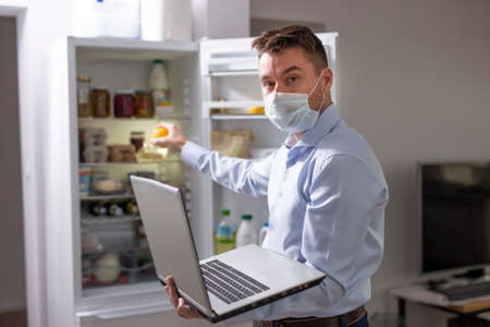 Coronavirus pandemic. Remote work in the home office
