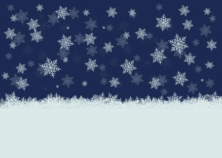 snowy background Stock Vector - 16864289