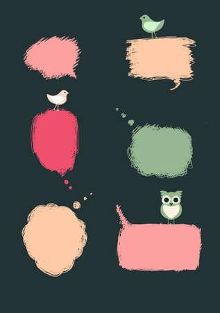 whimsy: speech bubbles birdy