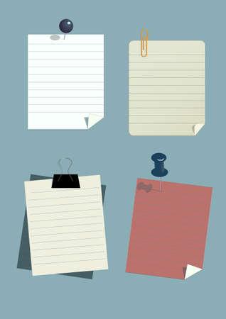 paper note Stock Vector - 16864286