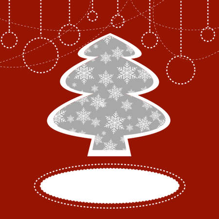 christmas tree background Stock Vector - 16911475