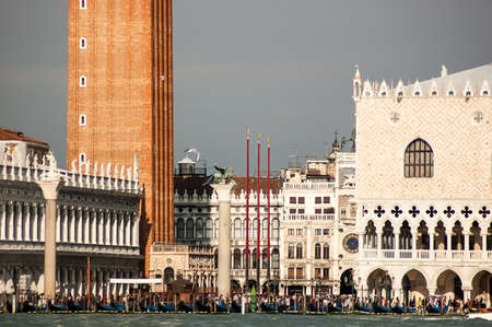 St Marks Square waterfront at sunny day, Venice, Italy Stock Photo