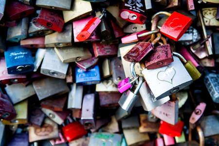 Love lock bridge (Hohenzollernbrucke Bridge), Cologne, Germany