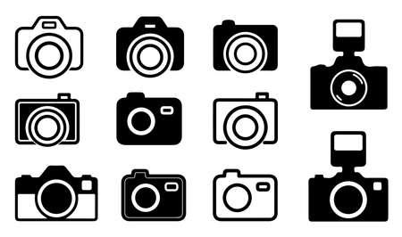 Camera Icons-Symbols Contains: DSLR and Classic Cameras