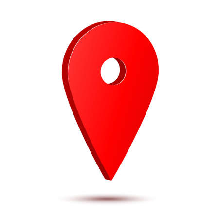 You are here gps navigation map pointer. Vector map marker icon that points location. Web element design. Place navigation sign.