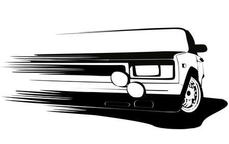 Racing Team Logo Design for Car Sport Team, set.