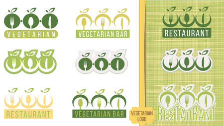 Set of vector and illustration logo label badge for organic food, natural product icons and elements collection for food market, e-commerce, organic natural products promotion and healthy life. Illusztráció