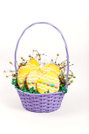 Colorful easter cookies photo