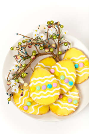 Decorated Colorful Easter Cookies photo