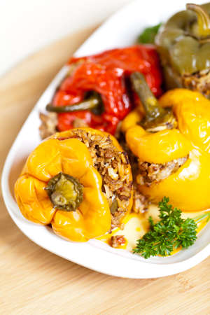 slow cooker: Stuffed peppers