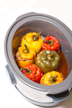 Stuffed Bell Pepper in a Slow-cooker photo