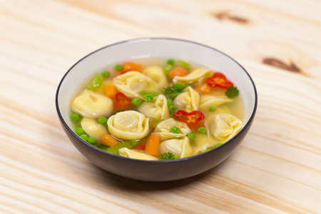 Delicious Vegetable Soup with Tortellini photo