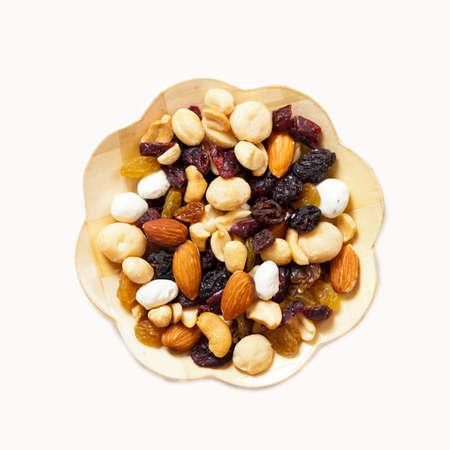 おいしい、健康な混合ドライ フルーツ、ナッツ、種子 写真素材