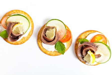 塩漬けアンチョビ フィレ肉のカナッペ