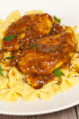 Chicken Marsala with Mushrooms  Stock Photo