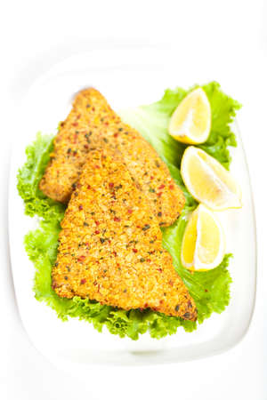 Fried tilapia fish fillet photo