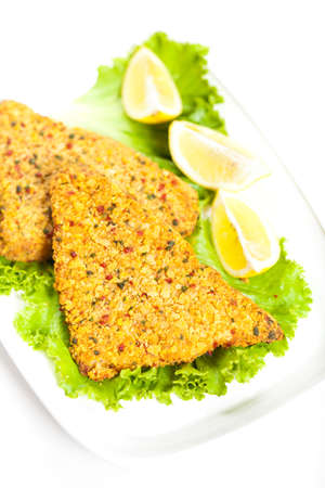 Fish dish  Fried fish fillet photo