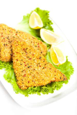 Fish dish  Fried fish fillet