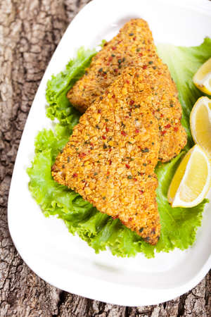 Fish dish  Fried fish fillet photo