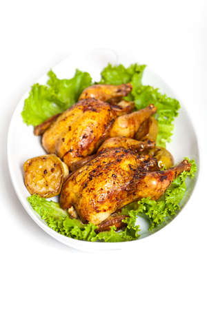 roasted chicken: Roasted chicken with apples