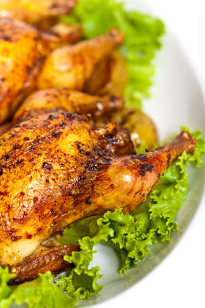 cornish: Roasted chicken with apples