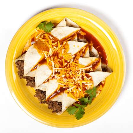 Beef Enchiladas  A traditional Mexican food  Standard-Bild