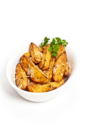 potato wedges: Potato Wedges With Parmesan Stock Photo