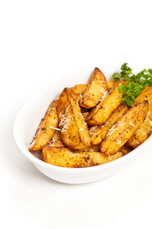 wedges: Potato Wedges With Parmesan Stock Photo