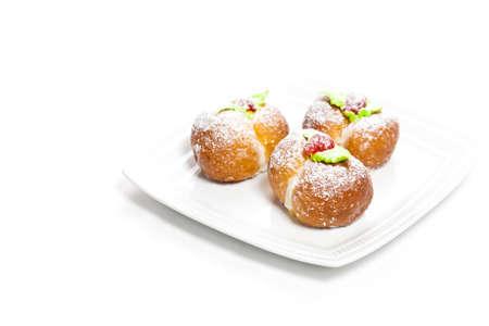 shaped: Peaches shaped homemade cookies