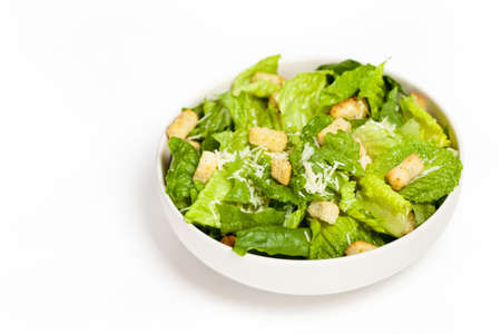 Caesar Salad with croutons photo