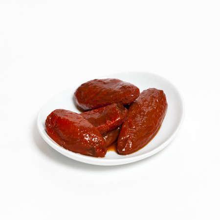 唐辛子のチポトレ スモーク メキシコ 写真素材