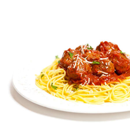Spaghetti with Meatballs Standard-Bild